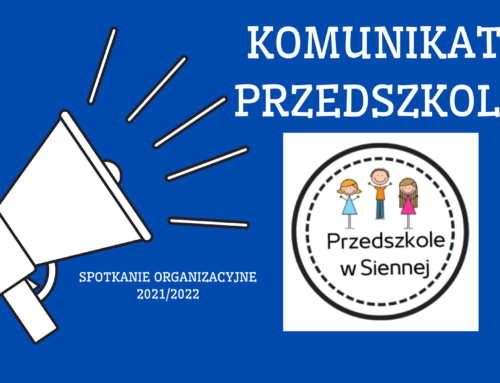 Spotkanie organizacyjne 2021/2022