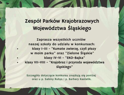 """Konkurs plastyczny """"Zielone Śląskie"""""""